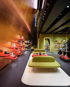 """""""Miu Miu unveils a new architecture by Herzog & de Meuron in the Aoyama district of Tokyo. The building on Miyuki street is sited diagonally across the street from the crystalline Prada Aoyama, completed by Herzog & de Meuron in In contrast. Miu Miu, Design Commercial, Commercial Interiors, Ethno Design, Retail Interior Design, Loft, Retail Space, Shop Interiors, Design Museum"""