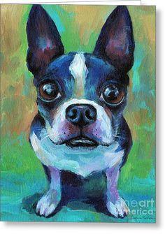 Adorable French Bulldog Dog Greeting Card by Svetlana Novikova