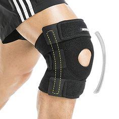 83030ae4e9 BERTER Knee Brace Open Patella Stabilizer Neoprene Knee Support for Men  Women Running Basketball Meniscus Tear