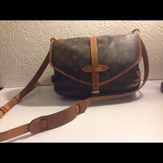 "Selling this ""Louis Vuitton Saumur 30 Crossbody Shoulder Bag"" in my Poshmark closet! My username is: deepeevintage. #shopmycloset #poshmark #fashion #shopping #style #forsale #Louis Vuitton #Handbags"
