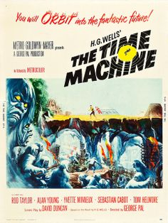 """The Time Machine (MGM, 1960). Poster (30"""" X 40"""")."""