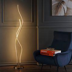 Cairo Led Integrated Floor Lamp Gold (Includes Energy Efficient Light Bulb) - Jonathan Y Gold Floor Lamp, Cool Floor Lamps, Torchiere Floor Lamp, Lamp Shade Store, Bedroom Lamps, Bedroom Lighting, Bedroom Ideas, Bedroom Decor, Strip Lighting