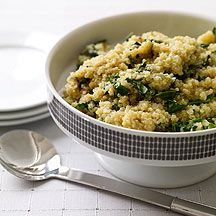 spinach.and.quinoa.:  sub vegetable broth for oil; add mushrooms; put an egg on top and use for Phase 2 breakfast/