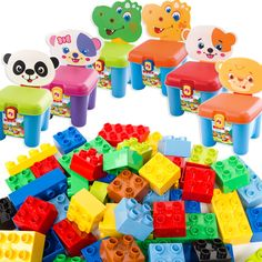 46pcs Big Building Blocks Self-locking Bricks Educational Toys for Children Baby Toys Best Gift Compatible with all brands toys #Affiliate