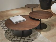 ROUND WOODEN COFFEE TABLE BREAKFAST BREAKFAST COLLECTION BY GIULIO MARELLI ITALIA | DESIGN M