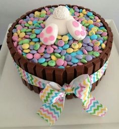 Bunny Butt Easter Kit Kat Cake