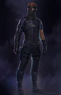 """Concept art of Hawkeye / Clint Barton from Marvel's """"Captain America : Civil War"""" (2016) by Andy Park."""