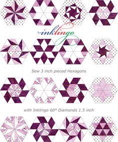 DIAMONDS FOR PIECED HEXAGONS