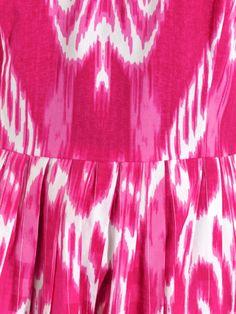 Oscar De La Renta Ikat and gingham-print dress Oscar Dresses, Ikat Fabric, Tie Dye Skirt, Gingham, Sewing, Inspiration, Women, Fashion, Oscar De La Renta