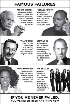 Famous Failures #inspiration