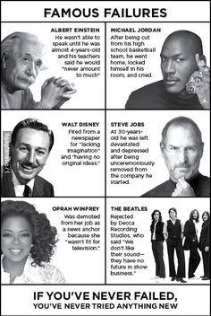 Famous Failures #inspiration