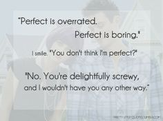 favorite quote from lola and the boy next door!
