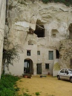 Cave homes in the Loire Valley, France.