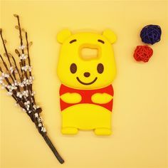 3D Cartoon Winnie Pooh Case Soft Silicone Rubber Back Cover For Samsung Galaxy S2 S3 S4 S5 S6 S6edge S6 Edge S7 S7edge S7 Edge