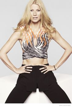 Actress Gwyneth Paltrow is the February 2015 cover star of Marie Claire US. sexy crop top