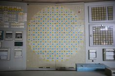 Instrument panels in the control room of reactor number two and nearly identical to the panels in the control room of reactor four stand inside the former Chernobyl Nuclear Power Plant on September 29, 2015. The Chernobyl plant is currently undergoing a decades-long decommissioning process of reactors one, two, and three, which continued operation for years following the accident at reactor four.