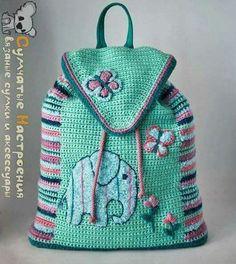 Crochet Backpack, Crochet Girls, Girls Bags, Knitted Bags, Crochet Bags, Knit Crochet, Crochet Accessories, Fashion Backpack, Frocks