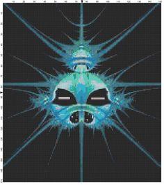 Alien Fractal Cross Stitch Pattern, Instant Download PDF, Relaxation, Meditations