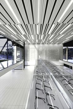 the firm la SHED architecture have designed a unique optometrist and optician clinic redefining the customer's experience.