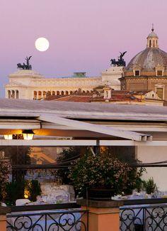 Rooftop. Grand Hotel de la Minerve. Rome