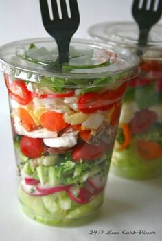 Salad in a cup More