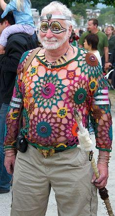 Fabulous Crochet a Little Black Crochet Dress Ideas. Georgeous Crochet a Little Black Crochet Dress Ideas. Crochet Hippie, T-shirt Au Crochet, Crochet Shirt, Freeform Crochet, Free Crochet, Crochet Things, Crochet Humor, Fashion Fail, Yarn Bombing