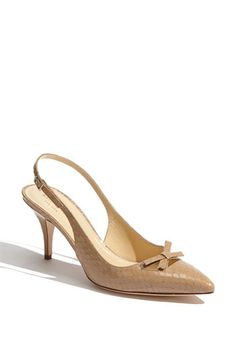 Must have a pair of nude shoes. Great shoes for spring by Kate Spade.