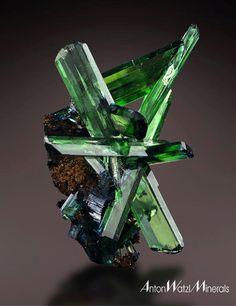 Vivianite - Morococala Mine, Santa Fe Mining District, Dalence Province, Oruro Department, Bolivia Size: 5.0 x 3.0 x 2.5 cm
