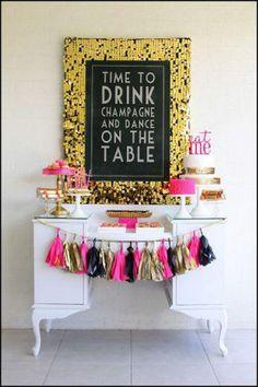Cute bachelorette party set up!