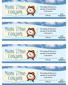 Mommy One-on-One Time Coupons