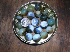 Lot #78 is a Selection of 21 Vintage Marbles Miscellaneous Marbles Twenty-one