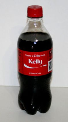 Share a Coke Bottle KELLY  Coca Cola 20 Oz.Ounce 2014 Limited Edition  in Collectibles, Advertising, Soda, Coca-Cola, Bottles | eBay