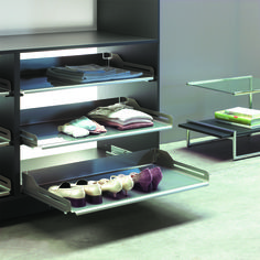 The contemporary shoe pull-out that gives a clear overview Living Room Units, Living Area, Dressing Room, Shoe Rack, Contemporary, Dining, Home, Walk In Closet, Food