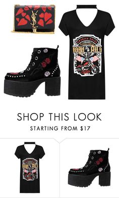 """""""Untitled #1522"""" by fallen-angel-007 ❤ liked on Polyvore featuring WearAll, T.U.K. and Yves Saint Laurent"""