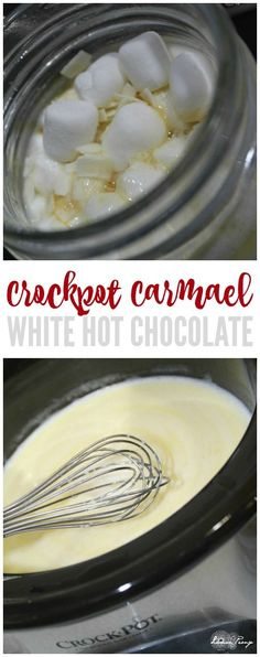 Crockpot Caramel White Hot Chocolate Recipe! Easy Hot Cocoa for Christmas or New Years! Snow Day Hot Drink for Kids and Adults! A Winter Favorite Drink Recipe!