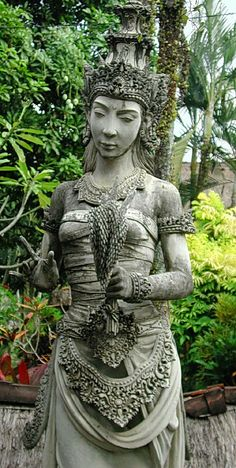 Dewi Sri, the Indonesian goddess of rice and fertility, is reputed to have pre-Hindu origins.