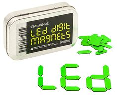 LED Digital Magnets | ThinkGeek