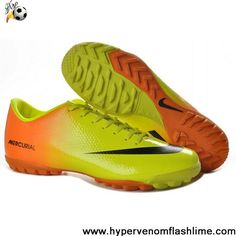 11896211d61 Wholesale Cheap Nike Mercurial Vapor IX TF Victory 4 Futsal Jade Yellow  Orange Soccer Boots On Sale