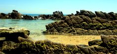 Piscinas naturales en la playa de Bolonia, Cádiz, Andalucía. http://www.cadiz-turismo.com/tarifa