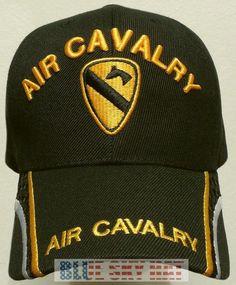 1ST TEAM U.S. ARMY DIVISION HORSE AIR CAVALRY CAV WINGS UNIT INSIGNIA CAP HAT OS #PREMIUMQUALITYHATS #BallCap