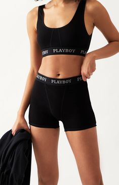 Shorts Outfits Women, Swag Outfits For Girls, Kpop Outfits, Cute Casual Outfits, Girly Outfits, Gym Shorts Womens, Playboy, Girl Boxers, Loungewear