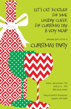 Christmas Party Printable Invitation Templates Free – Invitation ...