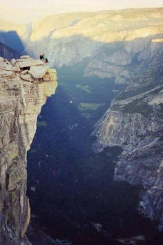 The top of Half Dome in Yosemite National Park. I was lucky to live there for a year when in my early 20s, and hiked to the top of Half Dome many times.