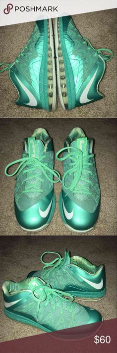 Lebron X Nike air max 579765-300 Sz 11 mint color Great condition. Barely worn.  Men's Nike Air Max Lebron James X Low Basketball Shoes Size 11 Crystal Mint color Style # 579765-300 Release date : 10-10-2012 Nike Shoes Athletic Shoes