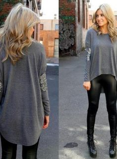 oversized sweater with sequins! #fallfashion