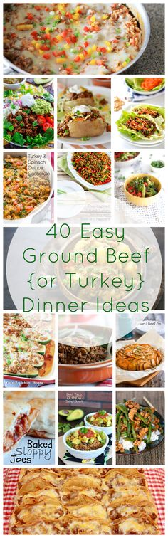 Ground beef is cheap, cooks quickly, and is super versatile! You don't want to miss these delicious recipes :-)