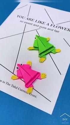 Paper Crafts For Kids, Diy Arts And Crafts, Diy Crafts Videos, Creative Crafts, Preschool Crafts, Fun Crafts, Paper Folding For Kids, Instruções Origami, Paper Crafts Origami