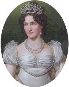 Caroline Augusta of Bavaria; (1792 - 1873). A daughter of Maximilian I Joseph, King of Bavaria and his wife, Augusta Wilhelmine of Hesse-Darmstadt, and a member of the House of Wittelsbach. She was married to Crown Prince William of Württemberg and to Francis II, Holy Roman Emperor. From 1816-1835 she was Empress of Austria in her second marriage