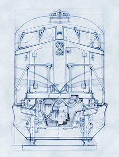 77 best railroad blueprints technical drawing whiteprints and blueprint style illustrations malvernweather Choice Image