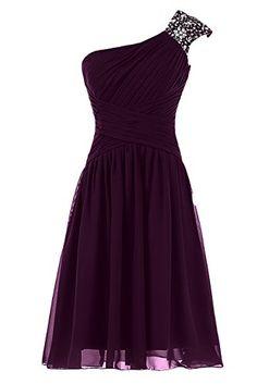Sunvary One Shoulder Chiffon Short Prom Dresses Homecomin...